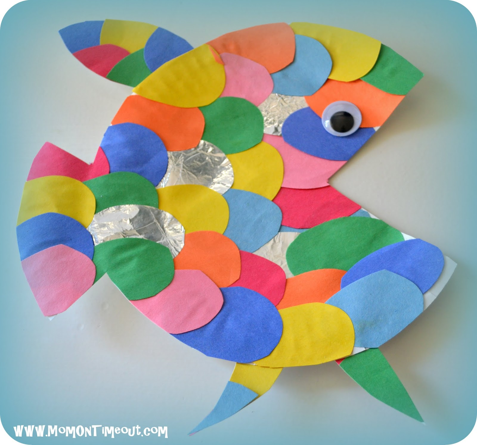 Summer book craft activity speechcenter inc for Rainbow fish activities
